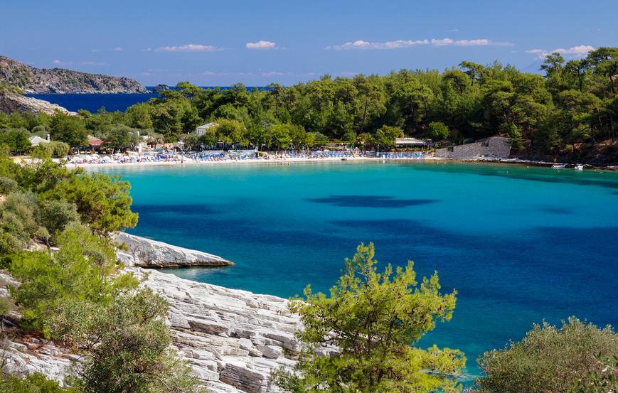 Strand von Aliki, Thassos